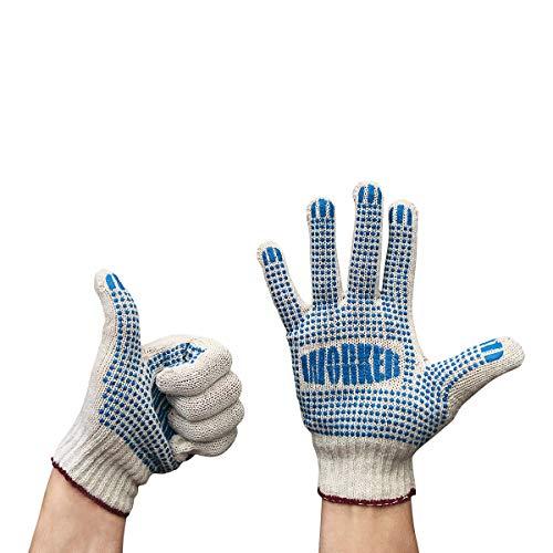 6 paia di guanti da lavoro in cotone naturale non sbiancato – ideale per il lavoro in giardino,...