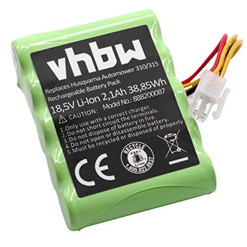 vhbw Li-Ion batería 2100mAh (18.5V) para cortacésped Robot cortacésped Husqvarna Automower 310 Modell 2018, 315 Modell 2015, 315 Modell 2016