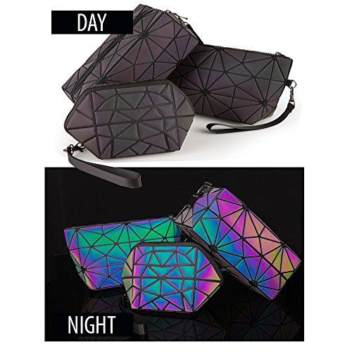 Pryzm, astuccio per trucchi in materiale che riflette la luce, fatto in laser, brilla al buio,...