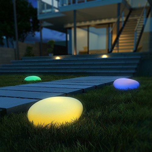 Luci Solari da Esterno, Luci Solari da Giardino, 40 cm Diametro, 9 Modalità intelligenti da...