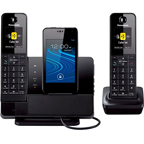 Panasonic KX-PRD262B Link2Cell Digital Phone with Smartphone Integration, Answering Machine & 2 Cordless Handsets