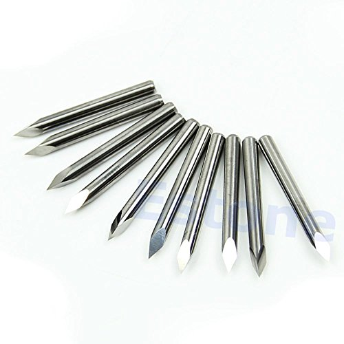 Generic A96 -10pcs 45 Degree Carbide Steel Pyramid Engraving Bits CNC Router Tool 0.1mm#XY