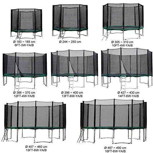 Baunsal GmbH & Co.KG Gartentrampolin Kindertrampolin Trampolin 305 bis 310 cm grün komplettes Set mit Sicherheitsnetz und Einstiegsleiter ...