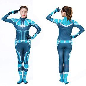 Lydia's Anime Cosplay Ropa Capitán Marvel Cosplay Disfraz De Impresión Digital 3D Vestido Navideño De Halloween para Niños/Adulto D-XXXL