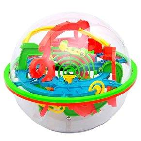 NiceButy 3D Laberinto de Bolas de Juguete Puzzle 100 Barreras Laberinto Mágico intelecto Bola del Balance Laberinto de…