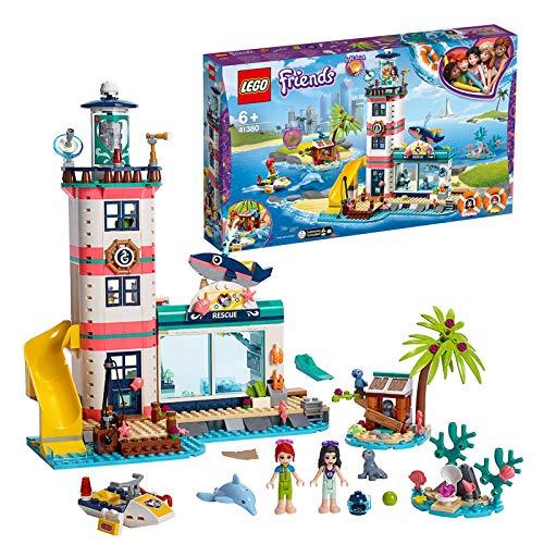 Lego Friends 41380 - Il Faro Centro di Soccorso per Immergerti nella Fantastica Atmosfera Marina e Aiutare Emma e Mia a Salvare gli Animali, Set di Costruzioni + 6 Anni