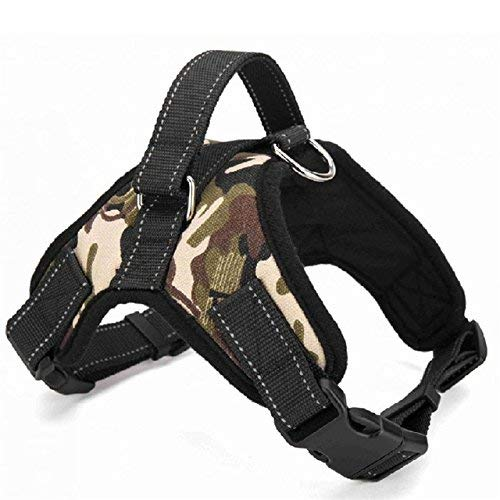 CoolDeals Nylon Heavy Duty Dog Pet Harness Collar K9 Padded Extra Large Dog Harnesses Vest Husky Dogs Supplies (Camouflage, Extra Large)