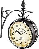 St. Leonhard Bahnhofuhr: Doppelseitige Bahnhofsuhr im Retro-Design (Doppelseitige Uhr)