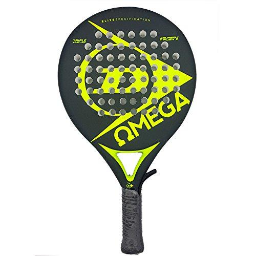Dunlop OMEGA - Pala de pádel 38mm, 2017, nivel iniciación, color amarillo