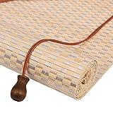 Bambusrollo- Sonnenschutzrollo, Raffrollo Bambus mit Volant, Haushaltsliftvorhang für Balkon, mehrere (Farbe : Wave Curtain, größe : 90x200cm)