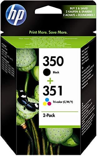 HP 350-351 Combo Pack (SD412EE) Cartucce Originali, per Stampanti a Getto di Inchiostro HP Deskjet...