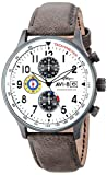AVI-8 Men's Analog Japanese-Quartz Watch with Leather Calfskin Strap AV-4011-0B