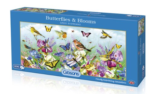Gibsons Butterflies and Blooms - Puzzle (636 Piezas), diseño de Mariposas y Flores