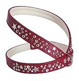 Luxus Hunde Ledergeschirr Star, Brustumfang 44-49 cm, rot