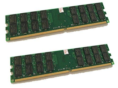 8 GB DDR2 800 mhz - 2 x 4 GB Kit - PC2-6400 RAM memoria PC6400 240 pin - Compatible con 533/667 mhz/Para AMD y VIA * No compatible con Intel*