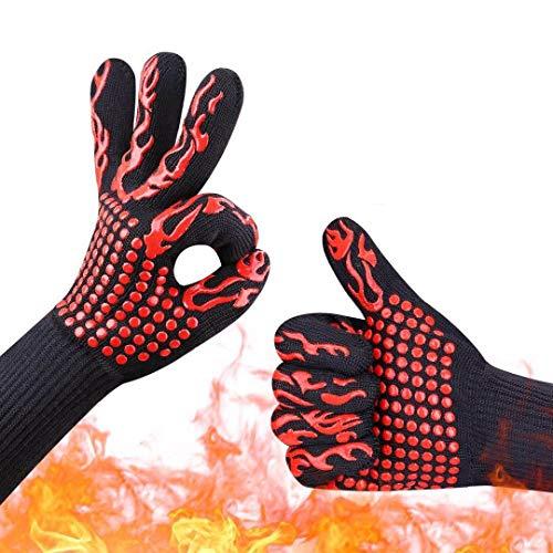 SengVan guanti resistenti al calore guanti da forno 500°C lunghezza avambraccio protezione per...