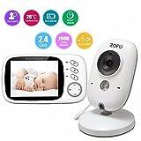 Vigilabebés con cámara Bebé Monitor inalámbrico de vídeo LCD 3.2' con...