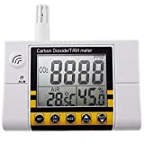 Misuratore di monitoraggio della qualità dell'aria di anidride carbonica / temperatura / umidità, rilevatore CO2 montabile a parete plug-in 220V con allarme, sensore di qualità dell'aria interna RH, portata 0 ~ 2000 ppm