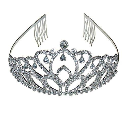 Coddsmz Princess Crown Diamante Pageant Tiara Headband Headpiece for Hair Comb