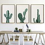 Cuadros De Cactus Estilo Murales Minimalistas