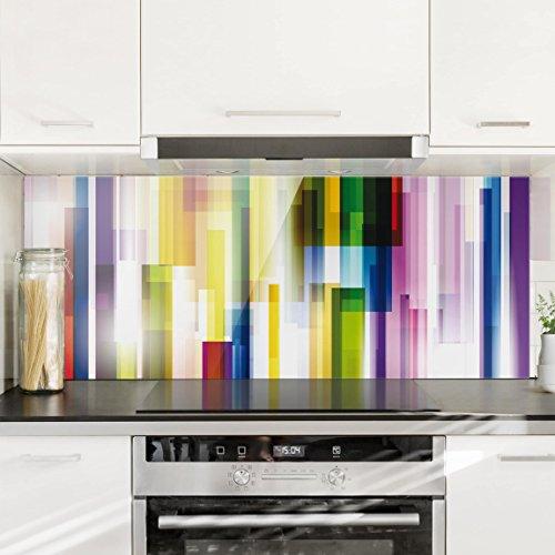 Bilderwelten paraschizzi in vetro rainbow cubes for Pannello decorativo cucina