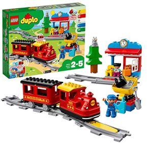 LEGO 10874 Duplo Town Tren de Vapor, Juguete de Construcción Educativo con Ladrillos para Niños y Niñas 2 años