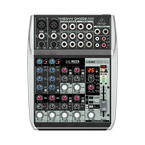 Behringer QX1002USB - Mezclador para DJ (107 Db, 0,006%, 19,5 cm, 24,8 cm, 5 cm) Negro