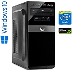 Memory PC High End Gaming Computer Intel Core i7-8700 8. Generation (SixCore) Coffee Lake 6x 3.2 GHz | Alpenföhn Ben Nevis | 16 GB DDR4 RAM | 256 GB SSD + 1 TB HDD | NVIDIA GeForce GTX 1060 6GB 4K | Gamer Workstation Desktop PC