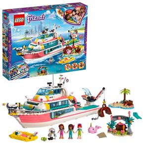 LEGO Friends - Barco de Rescate Nuevo juguete de construcción de Aventuras Acuáticas, incluye Tres Personajes y Varios…