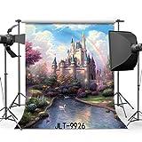 SUNNY Star 5x 7ft/150x 210cm cuento de hadas castillo vinilo fondo para estudio de fotografía personalizada estudio de antecedentes para Fotos 9926