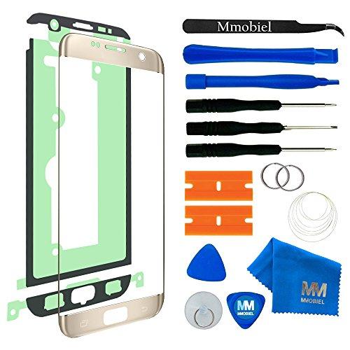 MMOBIEL Kit de Reemplazo de Pantalla Táctil Compatible con Samsung Galaxy S7 Edge G935 (Oro) Incluye Kit de Herramientas