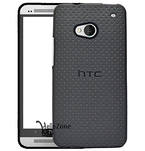 Hello Zone Exclusive Dotted Design Soft Back Case Cover Back Cover For HTC One 802D 802T 802W -Black