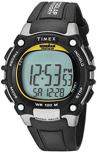 Timex Men's T5E231 Ironman Classic 100 Full-Size Black/Yellow Resin Strap Watch