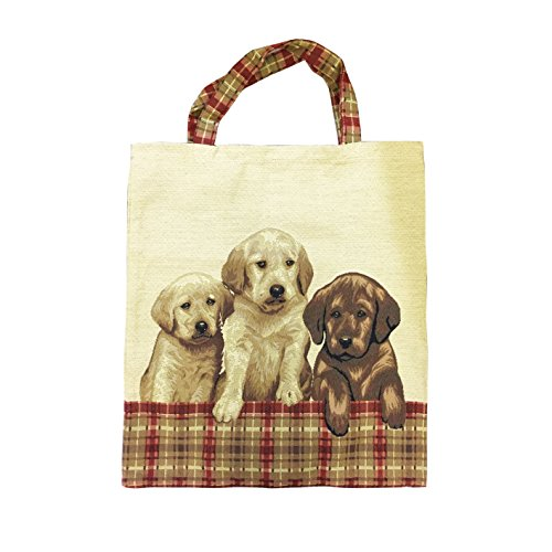 Bolsa para compras reutilizable Signare para mujer en tela de tapiz bolsa eco 3 Perro