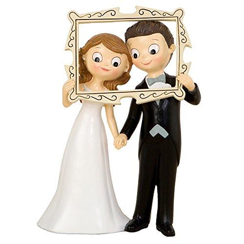 Mopec Pop&Fun Figura para Pastel para boda, Resina, Blanco, 9.5 x 18.7 x 25.5 cm