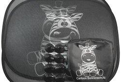 Voitures Cartoon solaire Zebra pare-soleil pour blindage côté aspiration attaches enfants et bébés Ensemble de 2 Meilleure offre de prix
