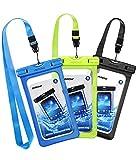 Mpow [3 Pezzi Custodia Impermeabile IPX8 Custodia Impermeabile, Borsa Impermeabile,Sacchetto Impermeabile Cellulare Dry Bag, Sacchetto di Smartphone Universale per iPhone XS/X/8/7, P30/P20/P10