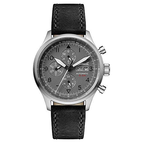 Ingersoll Orologio Cronografo Automatico Uomo con Cinturino in Pelle Nero I01903