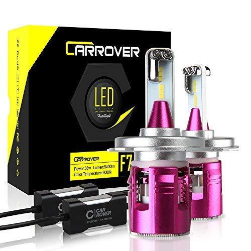CAR ROVER Lampadine H4 LED 10800LM Fari Abbaglianti e Anabbaglianti, Kit Sostituzione per Alogena...