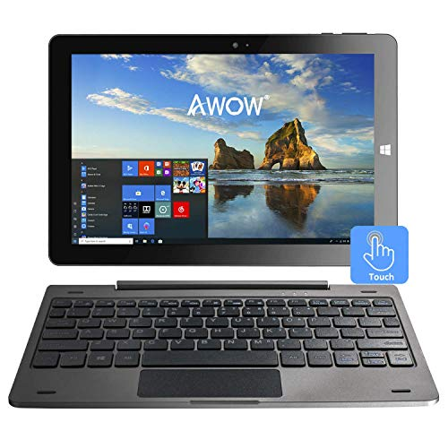 10.1 Windows 10 Tablet PC 2 in 1 laptop touchscreen, Intel Quad core 1,44 Ghz / 4 GB RAM + 64 GB /...