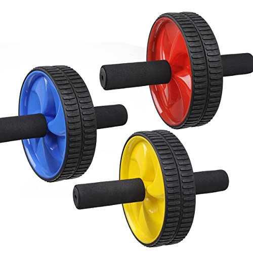 Iso Solid Body Fitness Workout - Ab Roller Ab Wheel Abdominal Workout Roller For Ab Exercises. Cushioned Handles