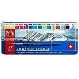 Caran d ́Ache Gouache - Pastillas para gouache (15 colores)