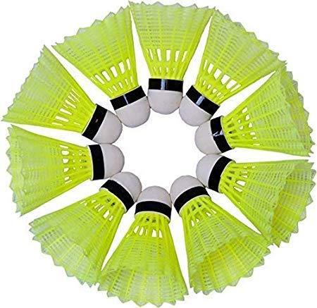 PS ENTERPRISES Plastic Badminton Shuttlecock (Pack of 10)
