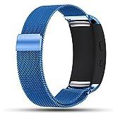 BarRan® Gear Fit2 / Gear Fit2 Pro Cinturino, Braccialetto Milanese di Acciaio Inossidabile + Connettore Samsung Gear Fit 2 SM R360 / Fit 2 Pro Smart Watch