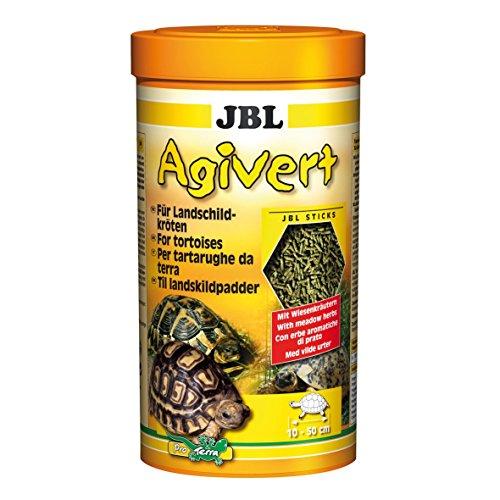 JBL, Agivert 70333, mangime per tartarughe di terra da 10 a 50 cm, in bastoncini (etichetta in lingua italiana non garantita)