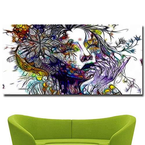 WSWWYSexy Ragazza Ritratto ad Acquerello Dipinto su Tela Poster e Stampa Quadri murali per la...