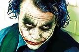 Poster Joker Murale Decorazione Heath Ledger Bathman Il Cavaliere oscuro Clown Film Gotham il cattivo DC Comic DC Universe | Poster da parete Decorazione da parete Immagine by GREAT ART (140 x 100 cm)