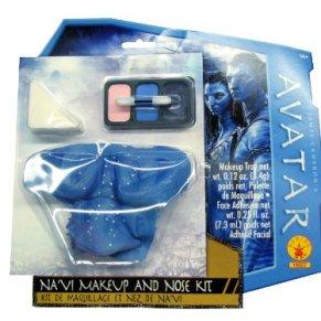 Rubie 's Costume Co Avatar Navi maquillaje y Kit de nariz, azul, talla única