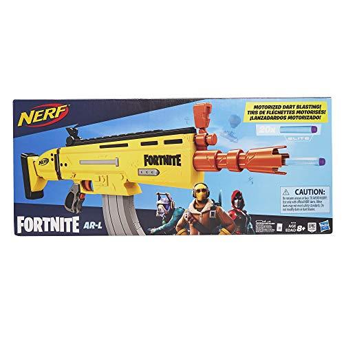 Hasbro Nerf- Fortnite AR-L, Blaster Scar Ufficiale con 20 Dardi, E6158EU4