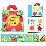 Actividad infantil suave del niño del bebé Libros de Aprendizaje Historia libro de paño de educación para la vida del sueño Libros de bebé de juguete Desarrollo-Flor por WayIn